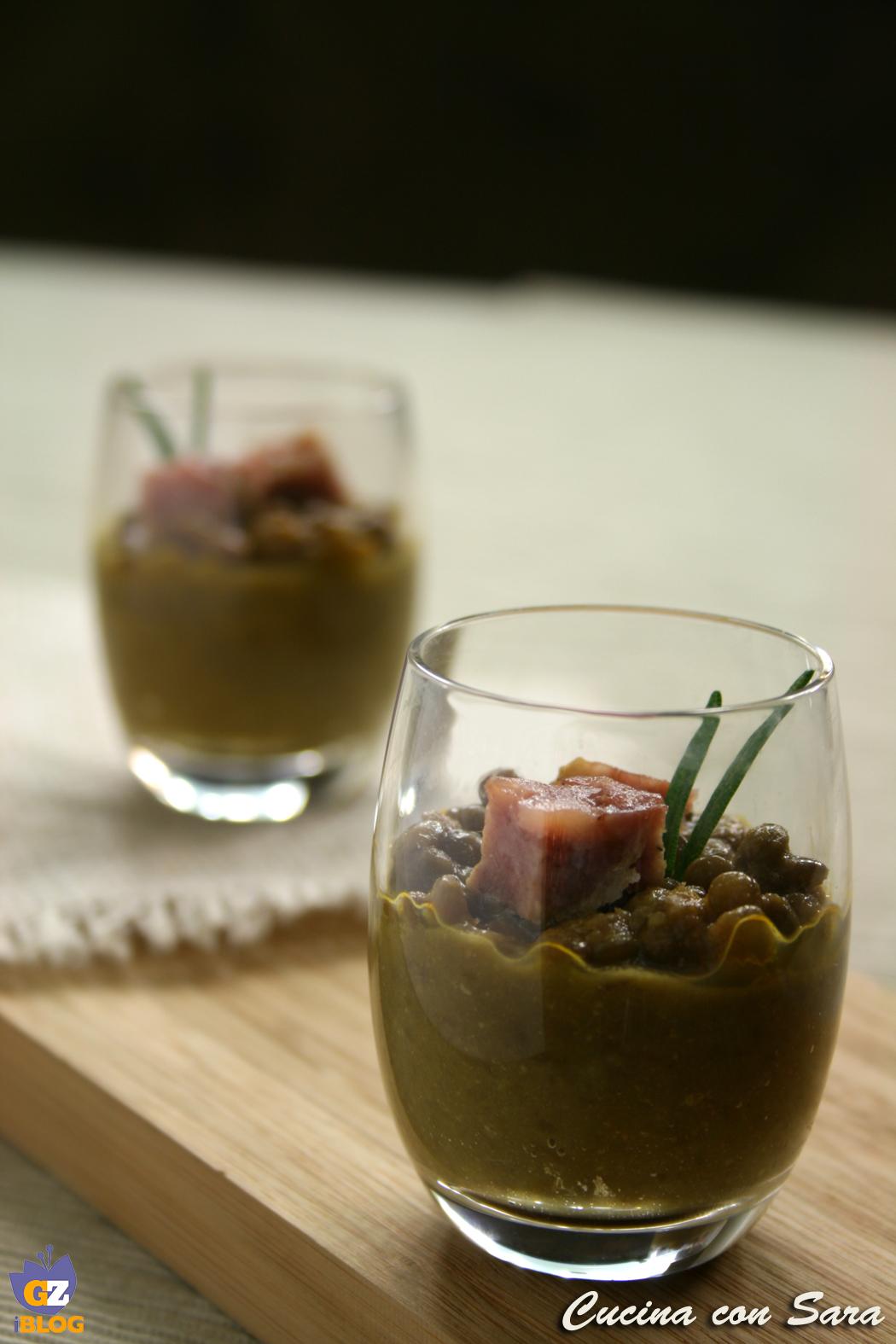 crema di lenticchie e cotechino - ricetta finger food