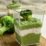 Vellutata di broccoli e caprino - ricetta finger food