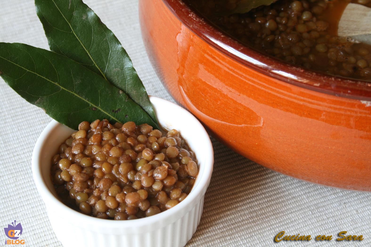 Lenticchie umbre in umido - ricetta
