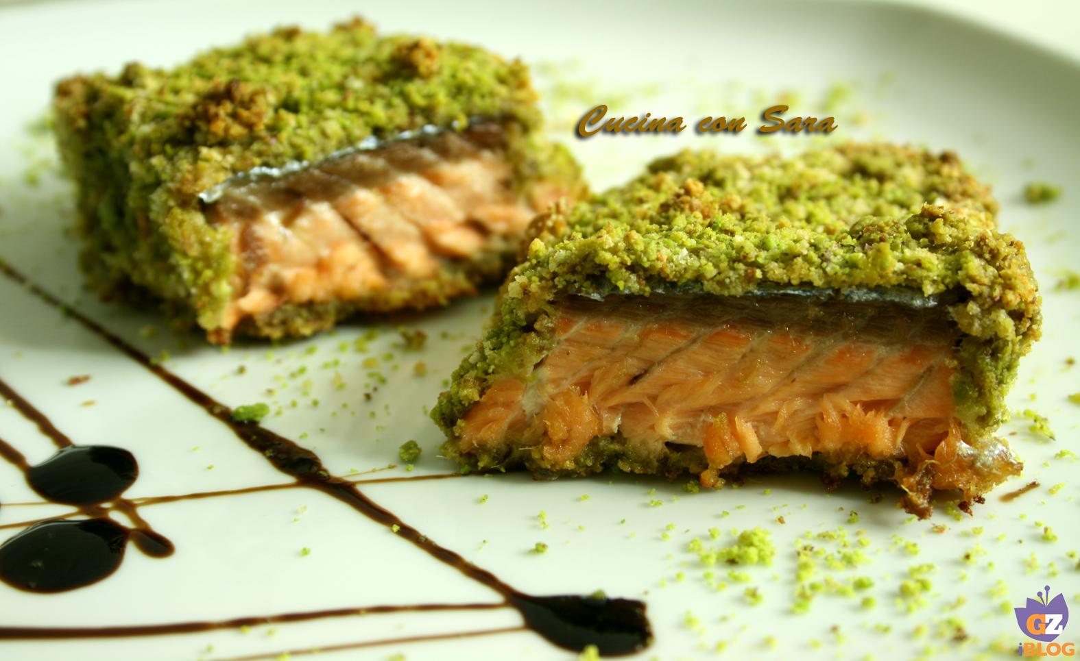 Ricetta Salmone Con Pistacchi.Salmone In Crosta Di Pistacchi Cucina Con Sara