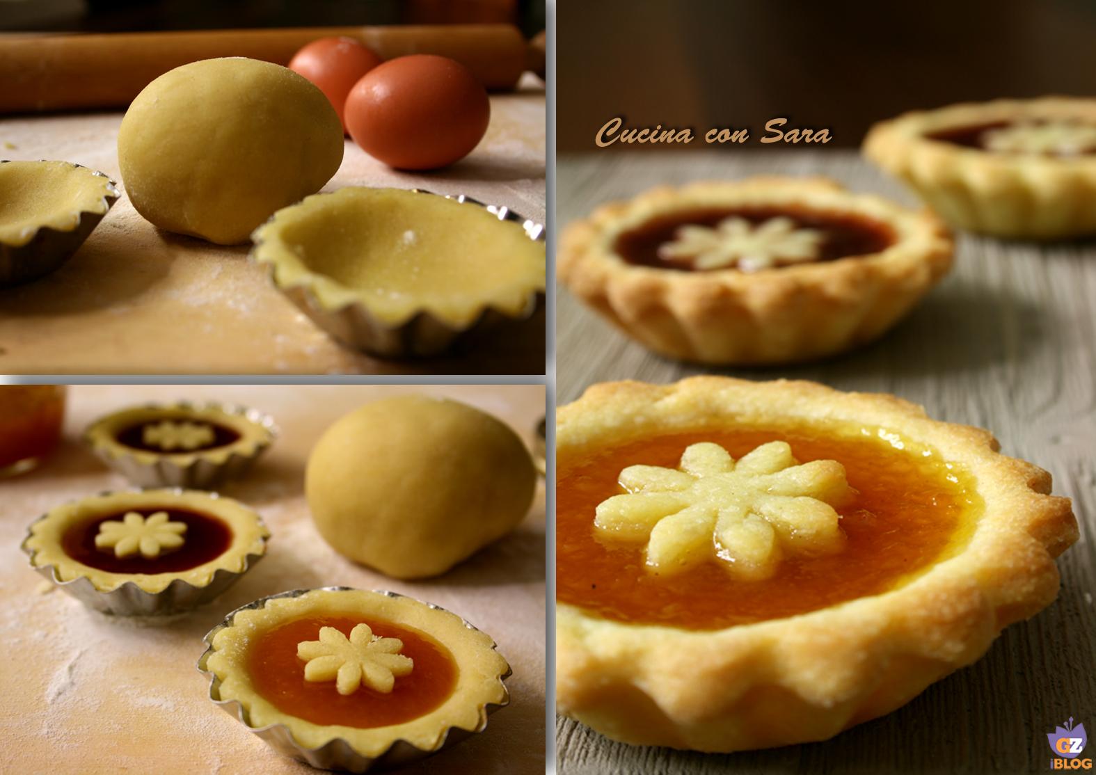 Crostatine di pasta frolla alla marmellata cucina con sara - Cucina con sara ...