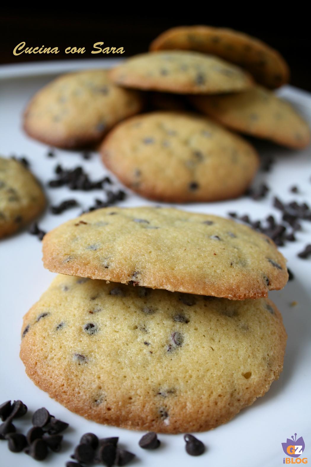 Cookies ricetta classica cucina con sara - Cucina con sara ...