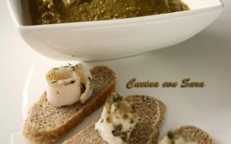 Crema di lenticchie con crostini al lardo