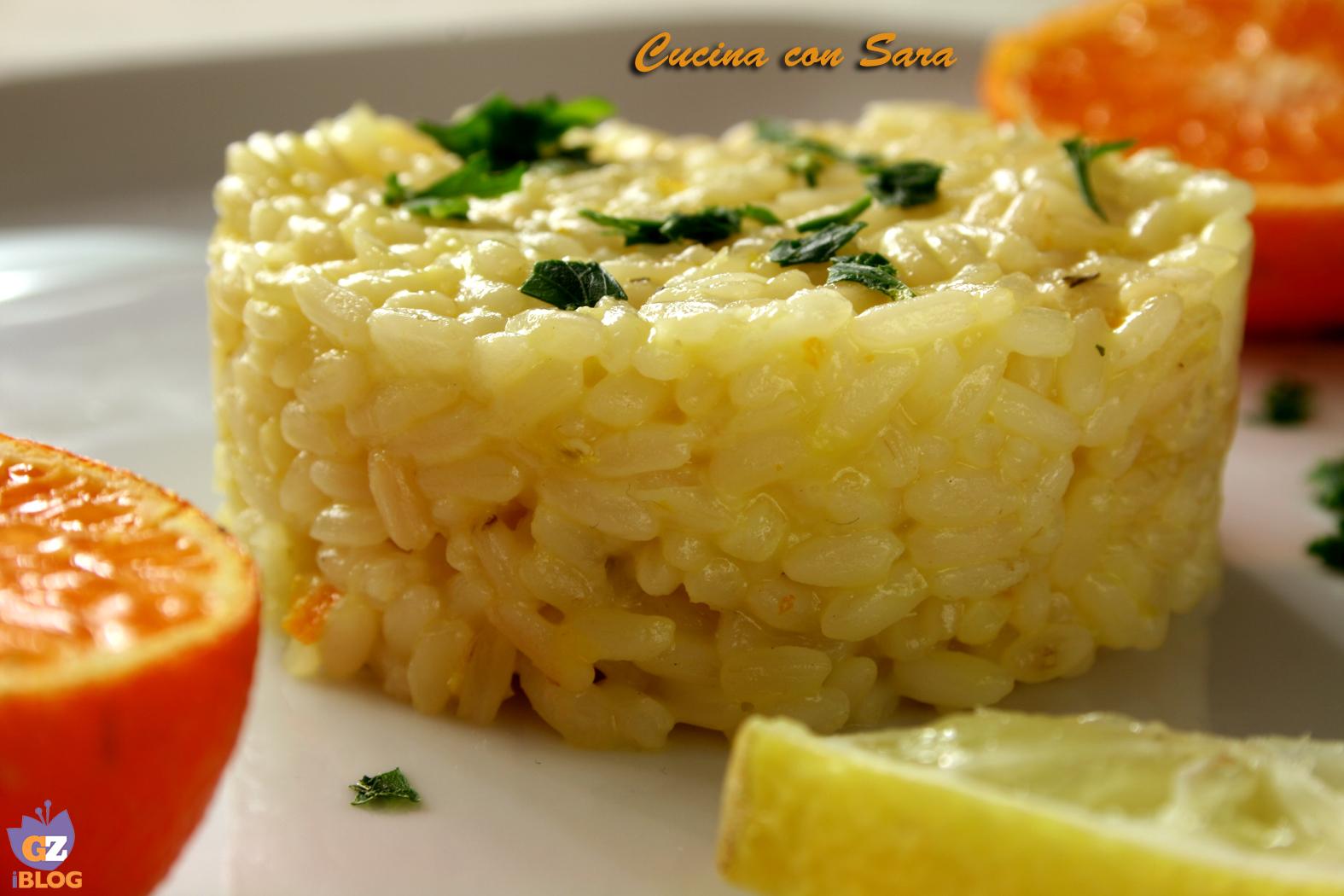Risotto agli agrumi cucina con sara - Cucina con sara ...