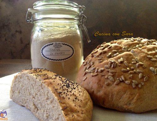 Pane al farro con semi di girasole e papavero