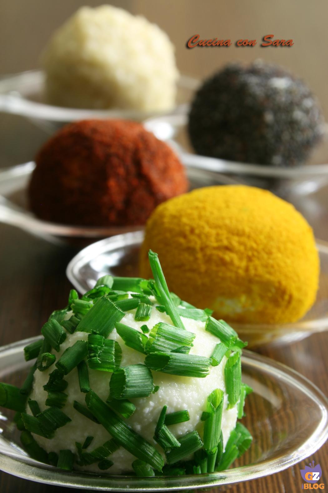 Palline di formaggio ricetta finger food cucina con sara - Cucina con sara ...