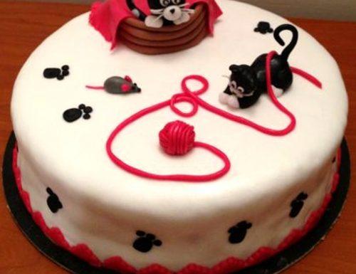 Cake design: torta mamma gatta e micetto