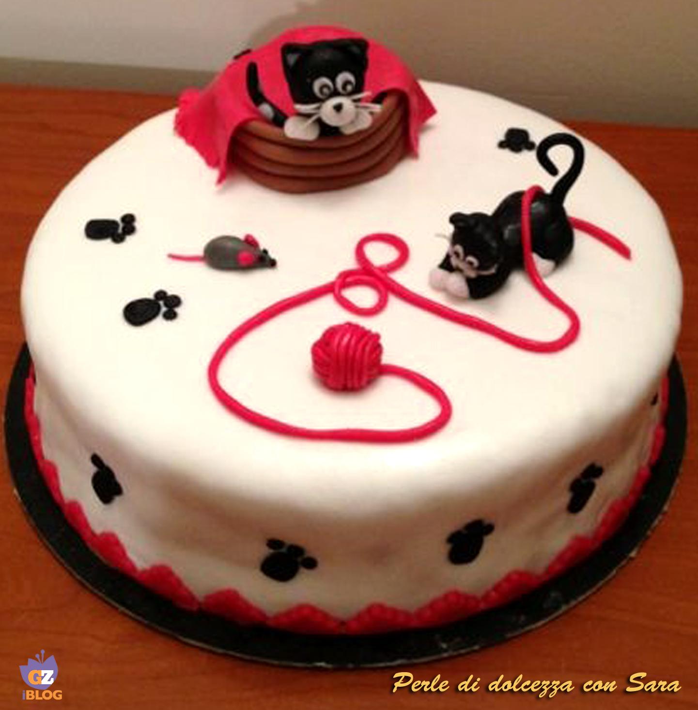 Cake Design Ricette Torte : Cake design: torta mamma gatta e micetto /CUCINA CON SARA