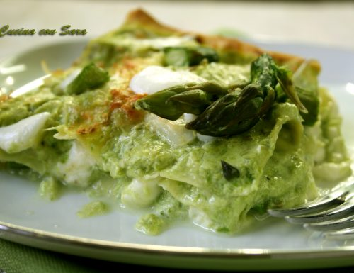 Lasagne asparagi e burrata