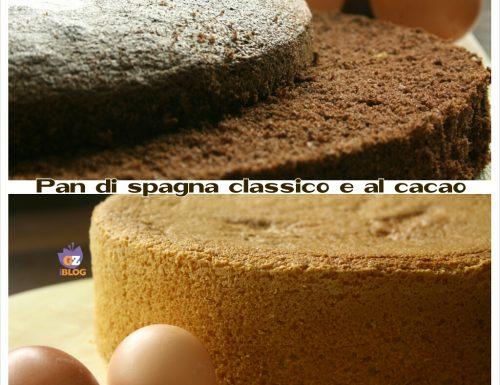 Ricetta pan di spagna classico e al cacao