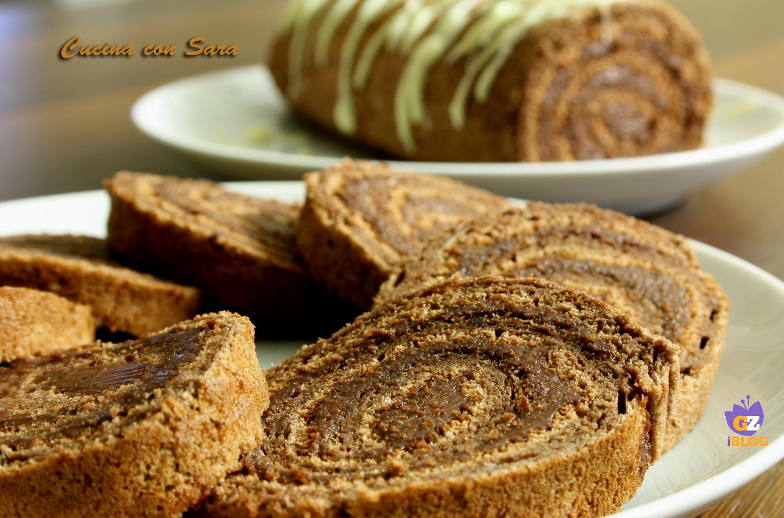 Rotolo al cacao e nutella