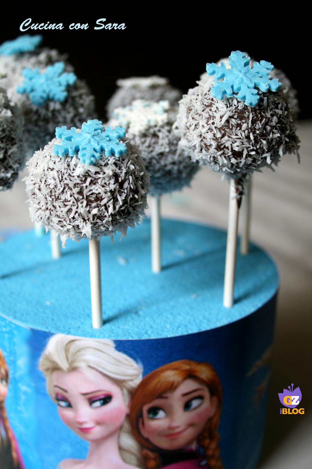 Cake pops frozen cucina con sara - Cucina con sara ...