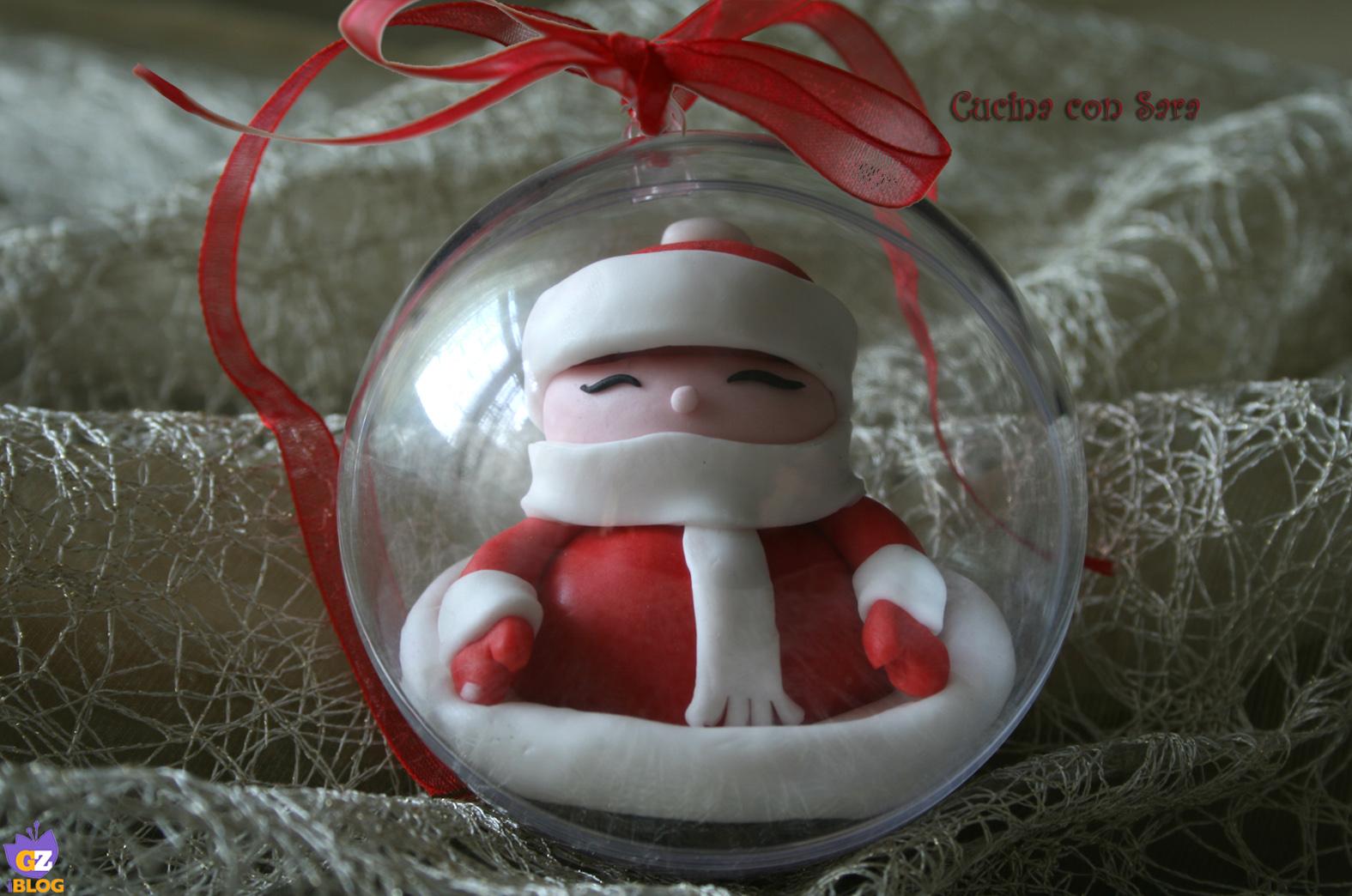 Foto Dentro Palline Di Natale.Palle Di Natale Decorate Con Tutorial Cucina Con Sara