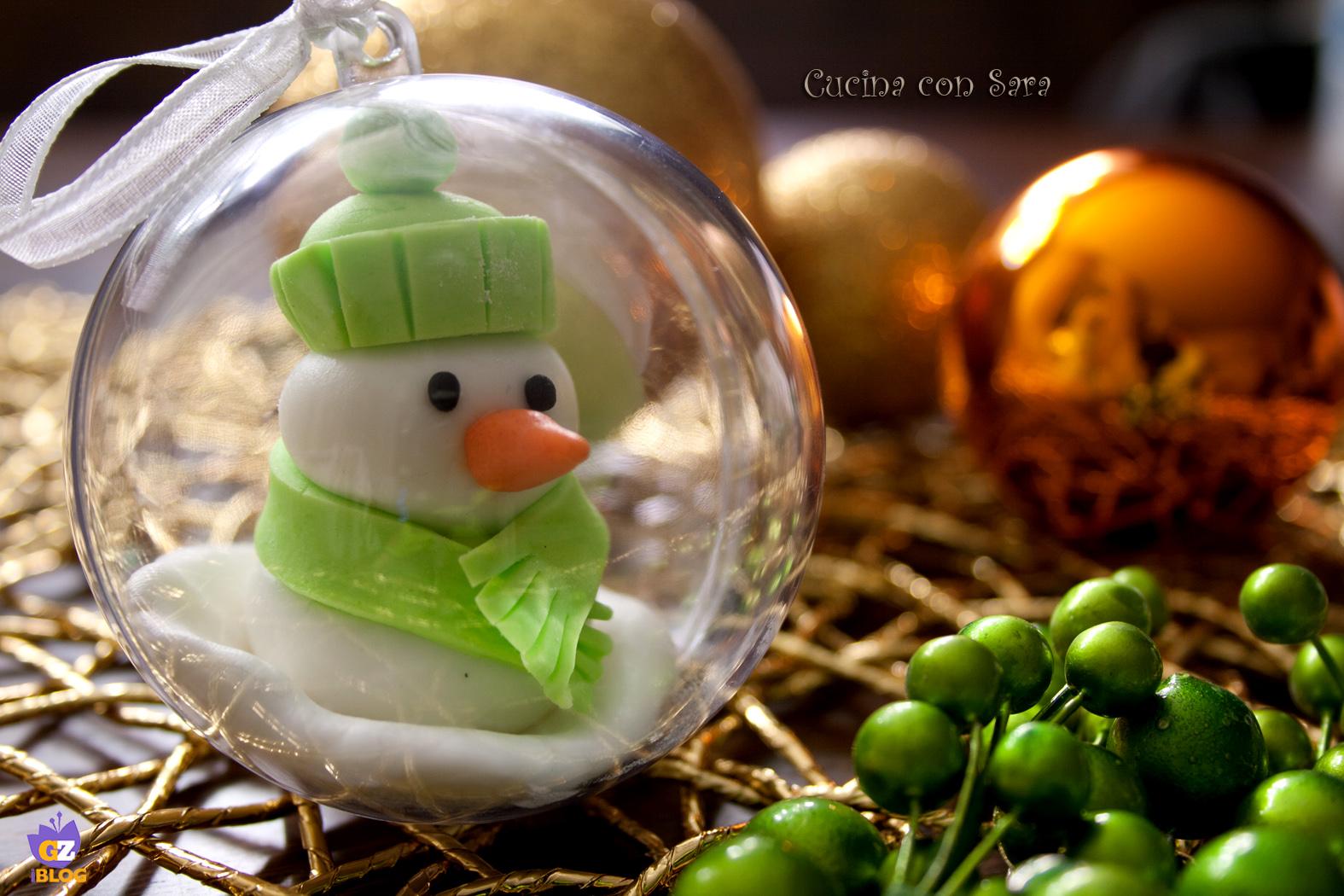 palle di natale decorate cucina con sara