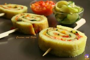 Girelle di frittata zucchine e peperoni, cucina con sara