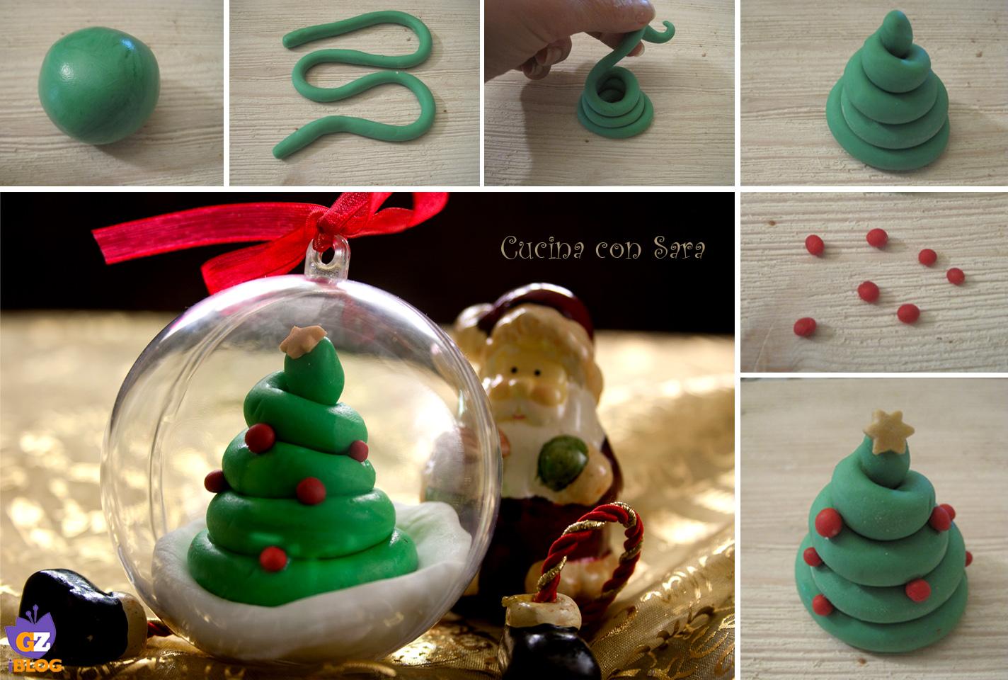 Tutorial Palline Di Natale Con Foto.Palle Di Natale Decorate Con Tutorial Cucina Con Sara