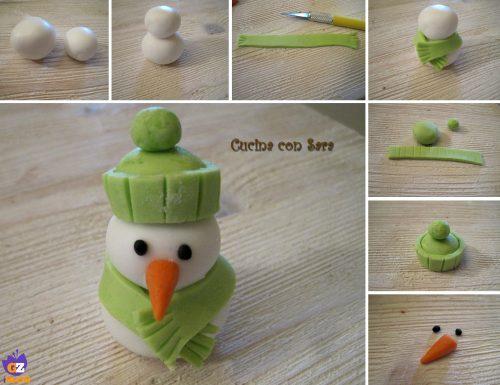 Cake design: tutorial pupazzo di neve