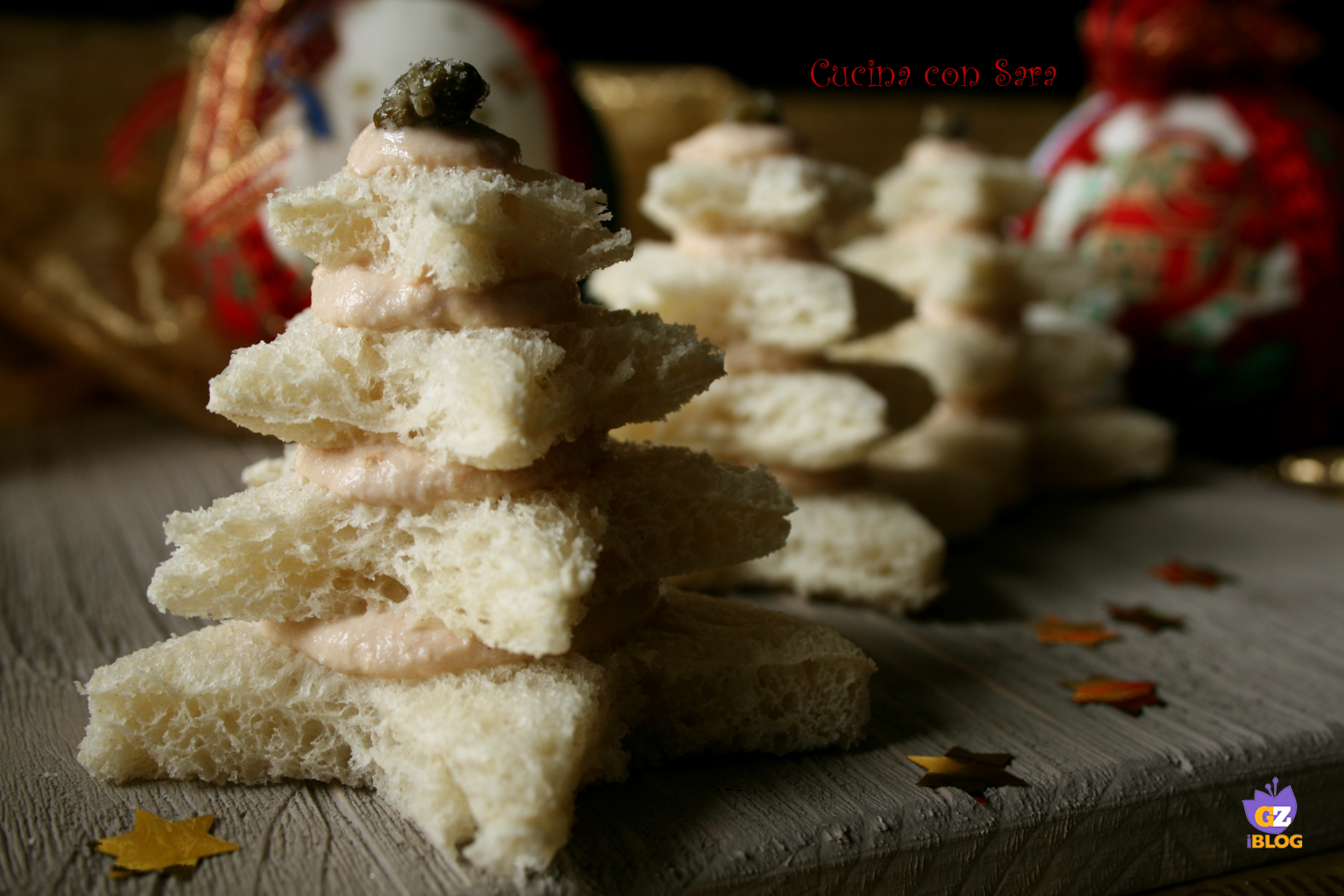 Alberelli di pancarrè farciti, cucina con sara