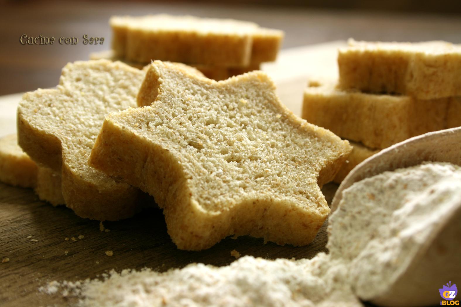 Pane integrale a forma di stella, cucina con sara