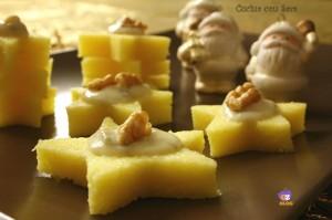 Stelle di polenta con zola e noci, cucina con sara