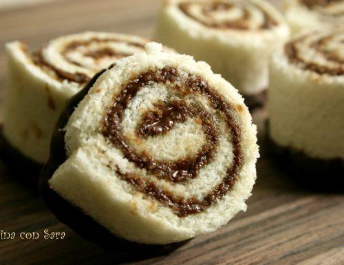 Girelle di pane e nutella