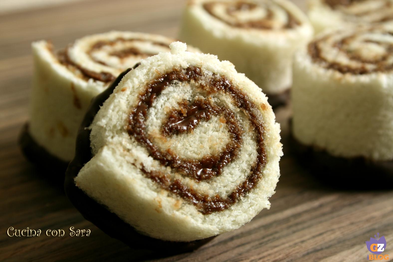 Girelle di pane e nutella, cucina con sara