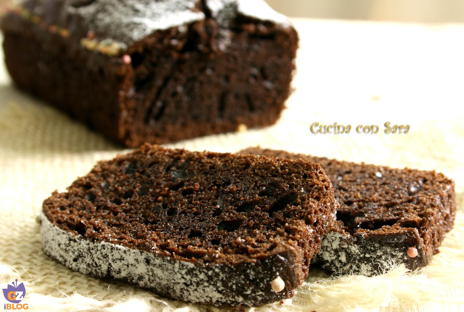 Plumcake al cioccolato , cucina con sara