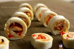Mini girelle di pane e peperoni, cucina con sara