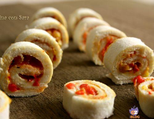 Mini girelle di pane e peperoni