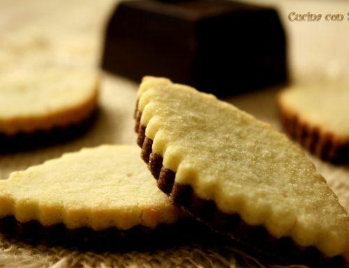 Biscotti bicolore ricetta