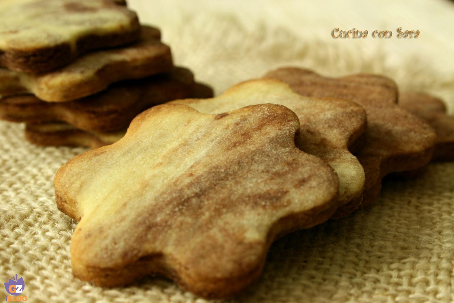 Ricetta biscotti marmorizzati, cucina con sara
