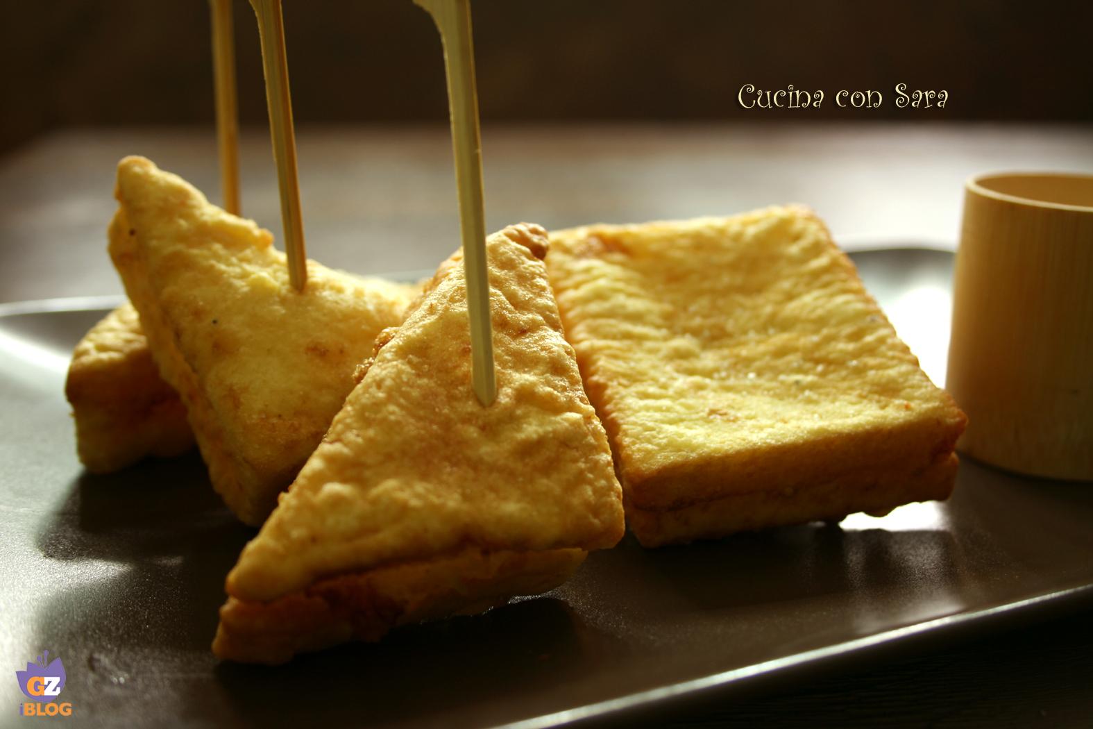 Mozzarella in carrozza cucina con sara - Cucina con sara ...