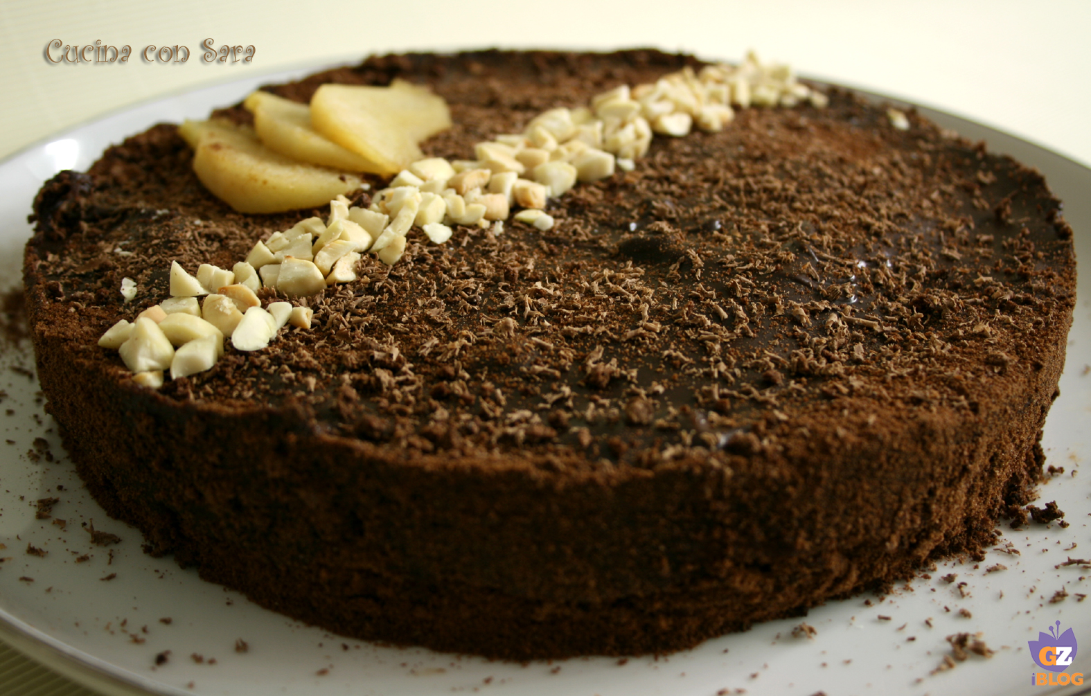 Torta cioccolato e pere, cucina con sara