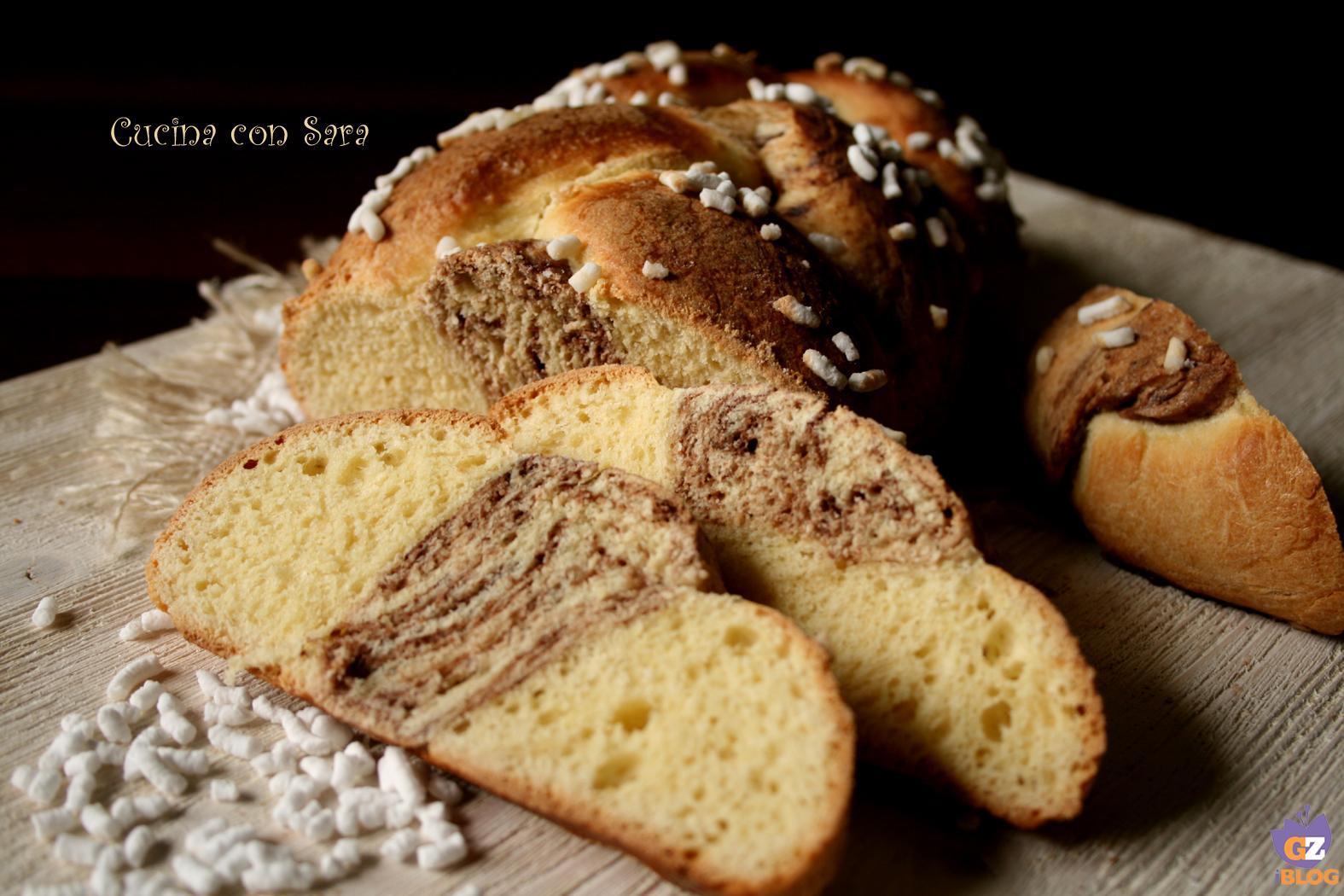 treccia di pan brioche, cucina con sara