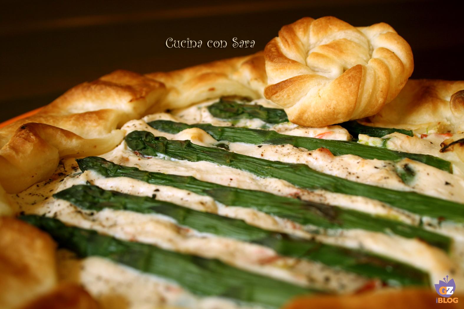 Torta salata asparagi e ricotta, cucina con sara
