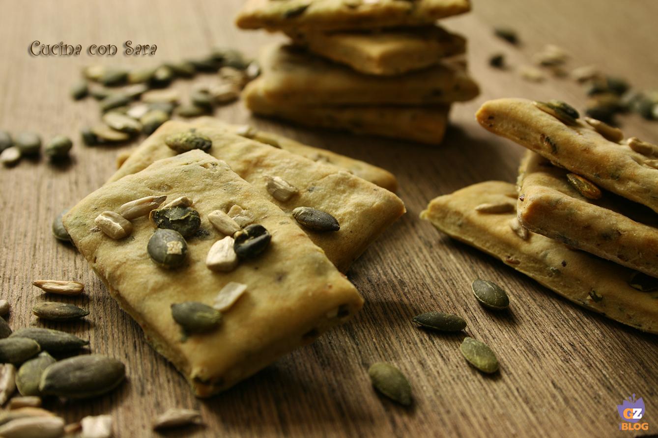 ricetta crackers senza lievito cucina con sara