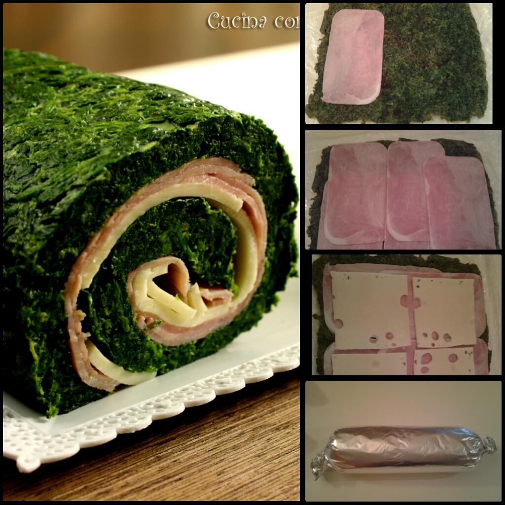 Rotolo di spinaci farcito, cucina con sara