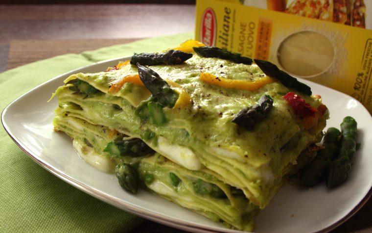 Lasagne asparagi, ricotta e peperoni arrostiti – gustosissime