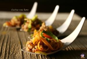 Quinoa con verdure al balsamico, cucina con sara