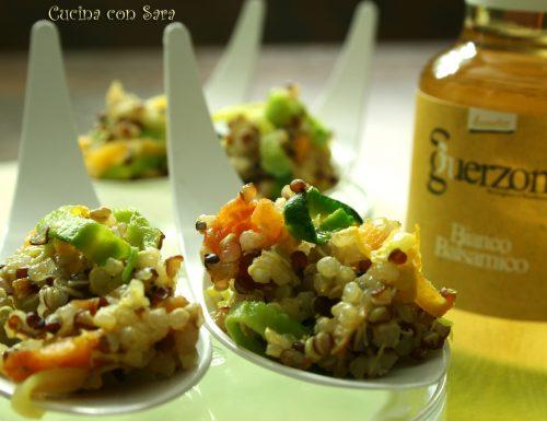 Quinoa con verdure al balsamico bianco