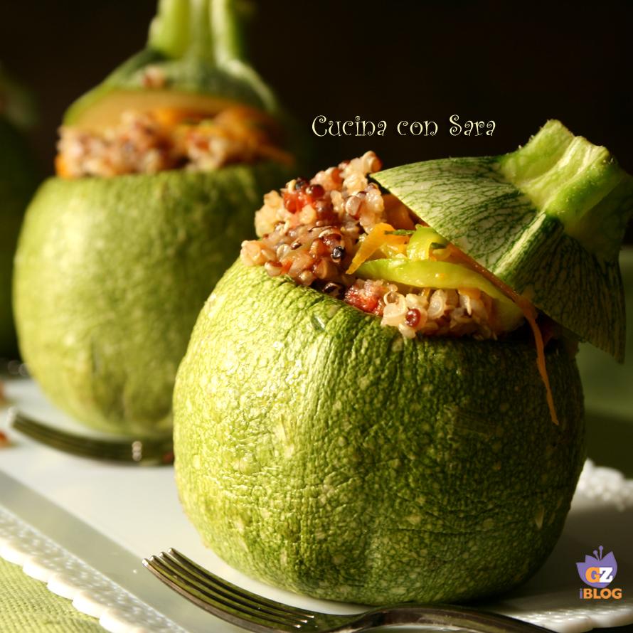 Zucchine ripiene di quinoa cucina con sara - Cucina con sara ...