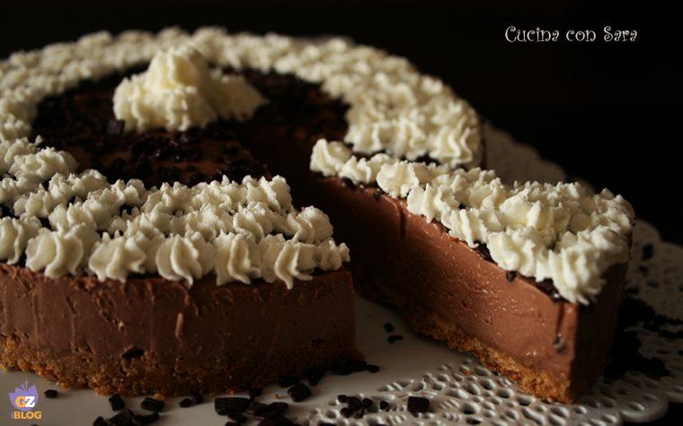 Cheesecake alla nutella, senza cottura