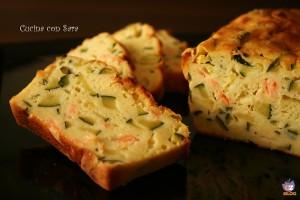 Plumcake con zucchine e salmone, cucina con sara