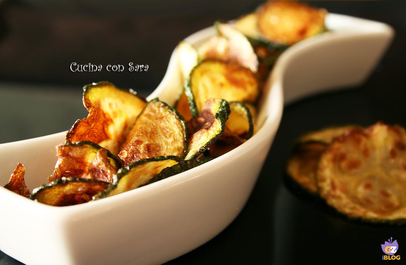 Chips di zucchine, cucina con sara