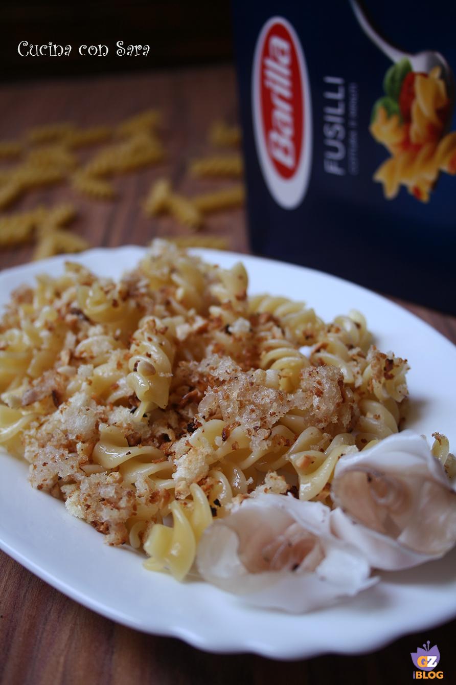 Fusilli risottati con crumble di lardo, cucina con sara