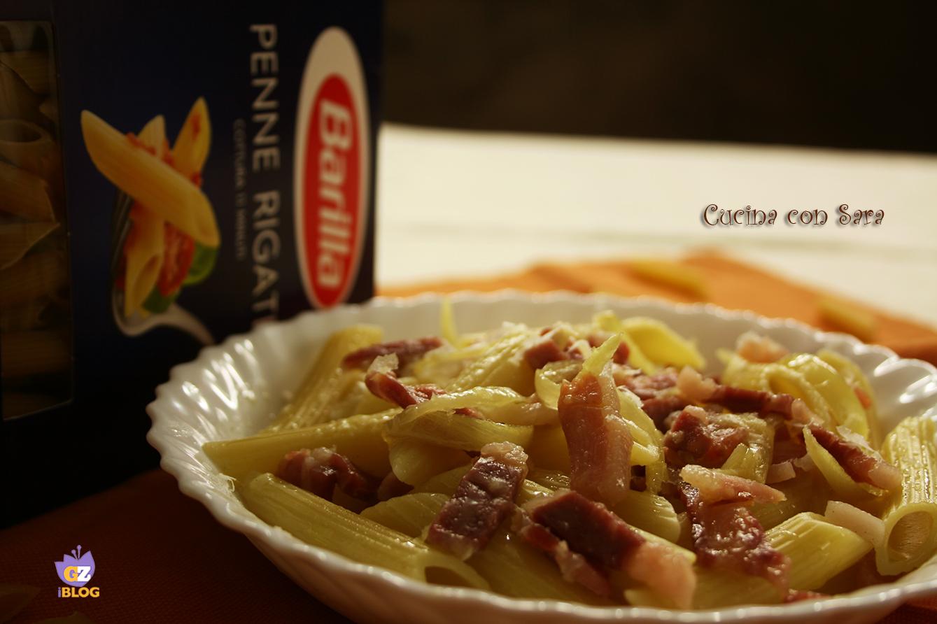 Penne con pecorino e pancetta cucina con sara - Cucina con sara ...