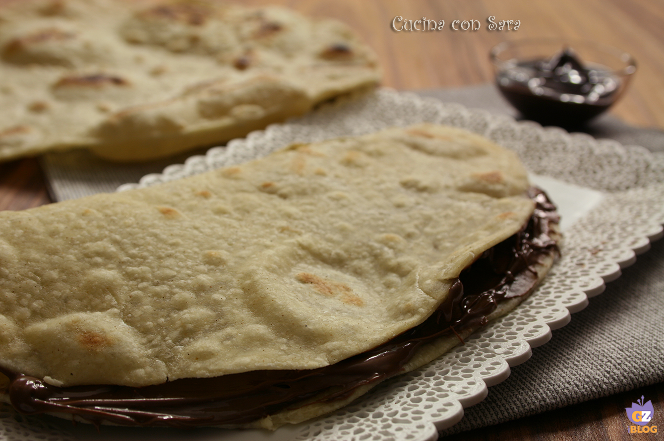 Ricetta piadina con nutella, cucina con sara