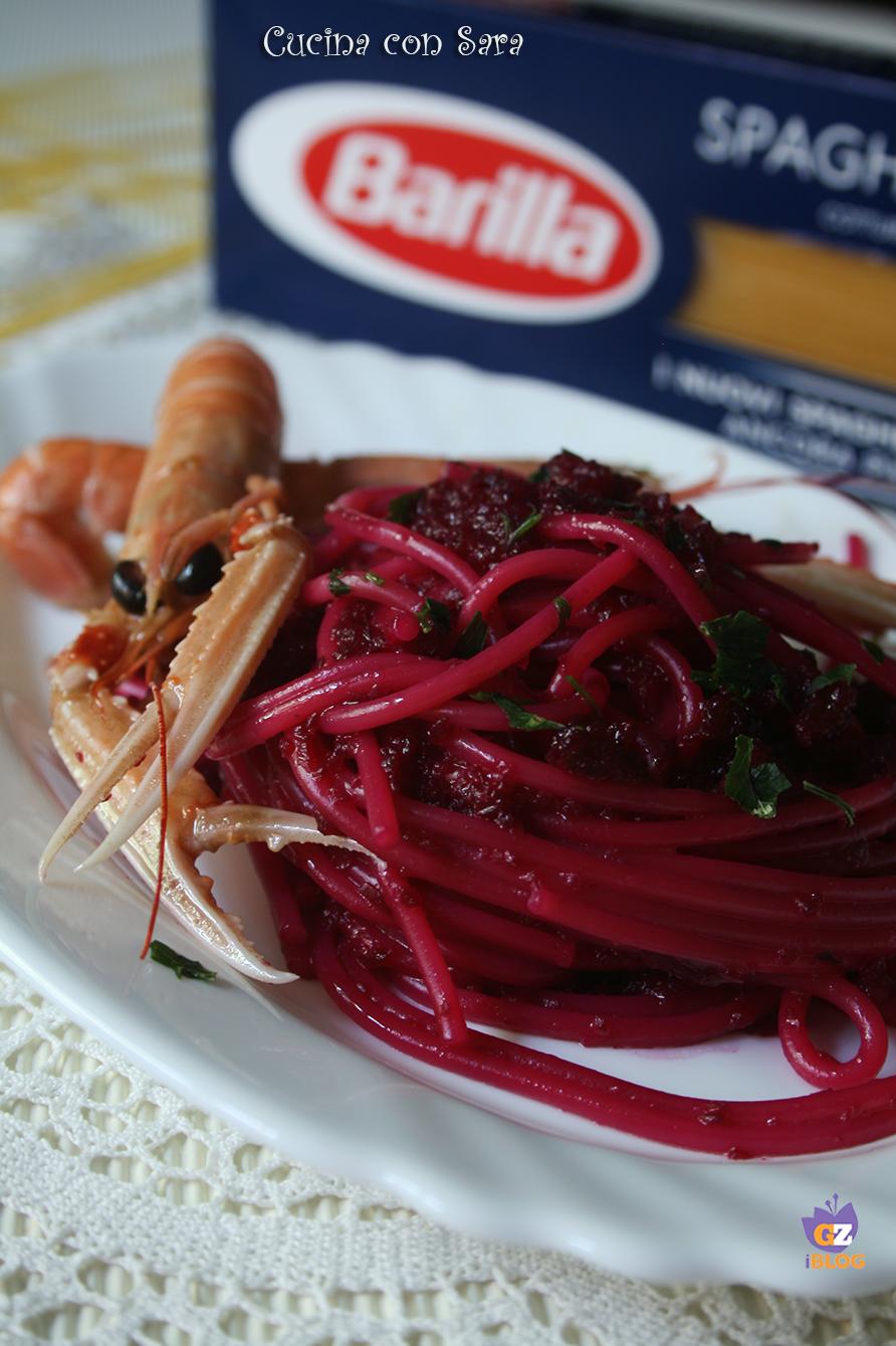 Spaghetti scampi e barbabietola cucina con sara - Cucina con sara ...