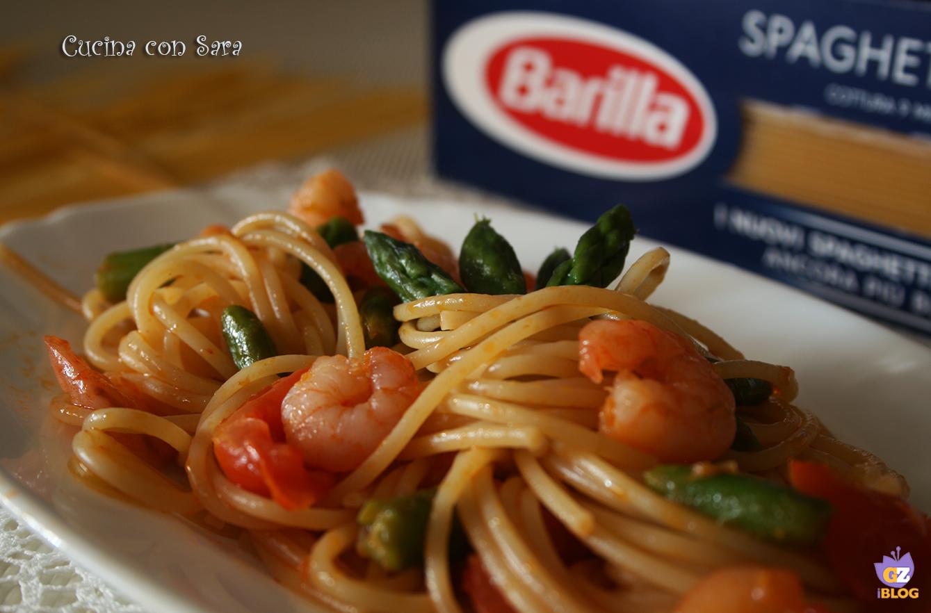 Spaghetti punte di asparago, cucina con sara