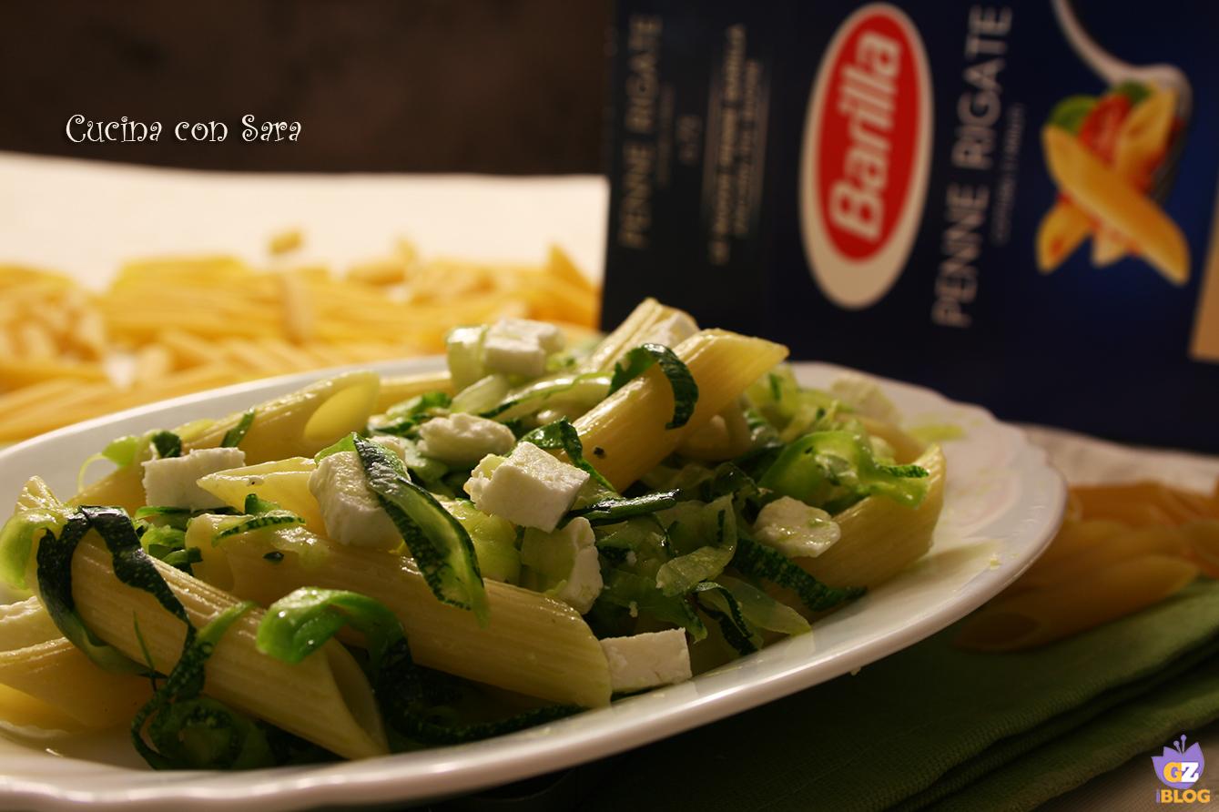 Penne zucchine feta e menta cucina con sara - Cucina con sara ...